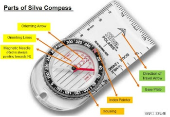 SNNPCC Orienteering Parts of Silva Compass