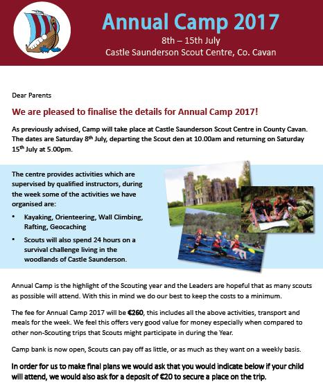 Annual Camp 2017